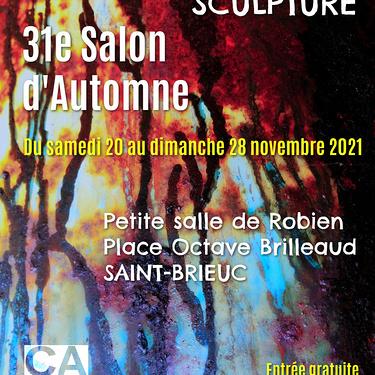 Le 31 ième Salon d''Automne aura lieu du 20 au 28 Novembre 2021